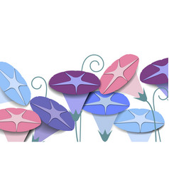 Colorful morning glory flowers background paper vector