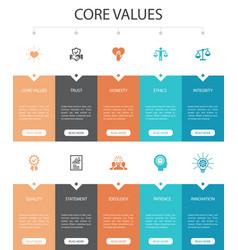 Core values infographic 10 option ui designtrust vector
