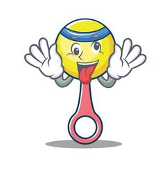 crazy rattle toy mascot cartoon vector image