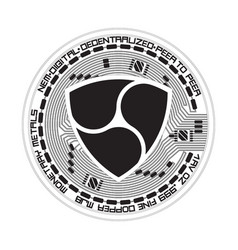 Crypto currency nem black and white symbol vector