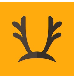 Deer antlers christmas flat icon vector