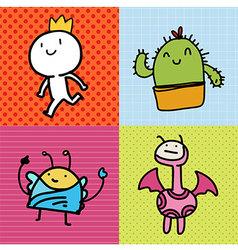 Doodle Card kids vector image