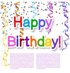 Festive texture happy birthday on white background vector