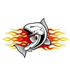fish tattoo vector image vector image