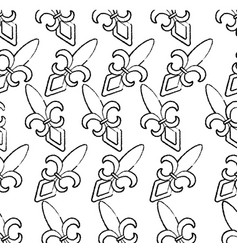 fleur de lis mardi gras carnival symbol vector image