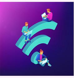 Free wifi hotspot isometric concept vector