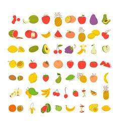 fruit coloring element set set vector image