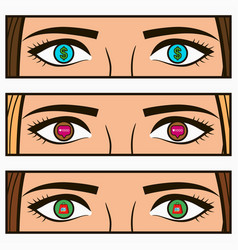 girl eyes vector image