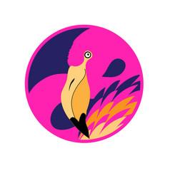 gorgeous graphic portrait a pink vector image