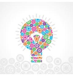 Group gear make a bulb vector