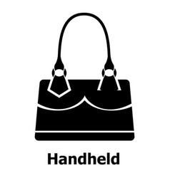 Handheld bag icon simple black style vector