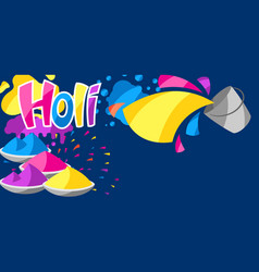 Happy holi colorful background vector