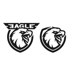 Head of the eagle monochrome logo vector