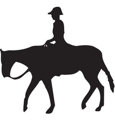 Horse riding silhouettes collections image vector
