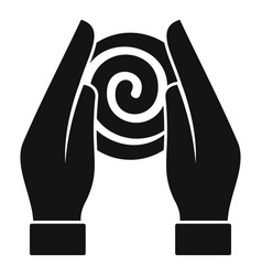 Hypnosis hands icon simple style vector