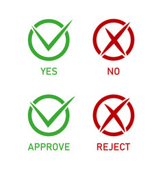 icon check mark right or wrong checkmark of vector image