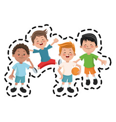 Isolated boy cartoons design vector
