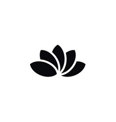 Isolated lotus icon water lily element can vector