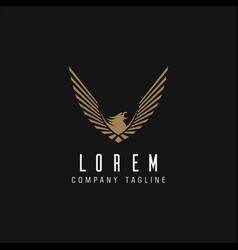 Luxury eagle logo design concept template vector