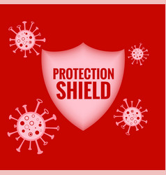 Medical protection shield stopping and destroying vector