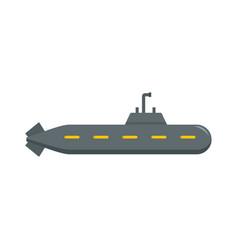 military submarine icon flat style vector image