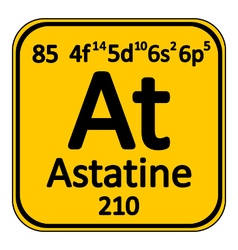 Periodic table element astatine icon vector image