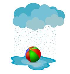 Rainy weather on white background vector
