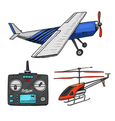 Rc transport aircraft remote control models vector