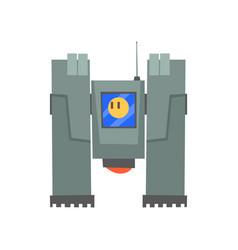 robotic machine robotic engineering concept vector image