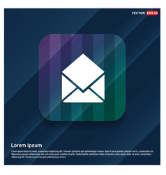 Send mail icon vector