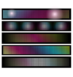 Set of LED lights background banners vector