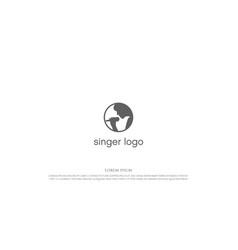 simple minimalist woman singer star logo design vector image