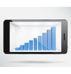 Smartphone graph vector image