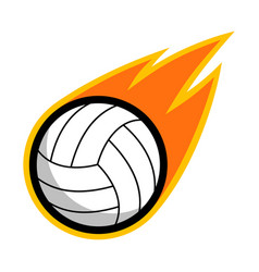 Sport ball fire volleyball vector