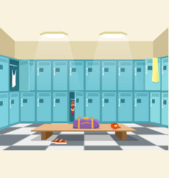 sports wardrobe changing room vector image