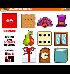 Square shape educational task for kids vector
