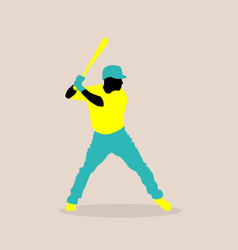 Stylish a baseball player vector