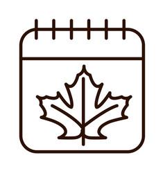 thanksgiving day calendar reminder festive line vector image