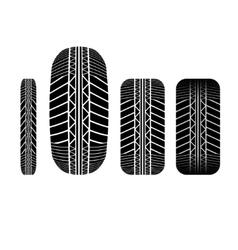 Tire track 5 vector