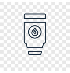 Tumbler concept linear icon isolated on vector