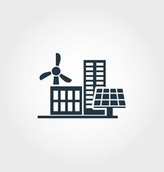 urban development creative icon monochrome style vector image