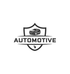 Vintage automotive logo designs vector