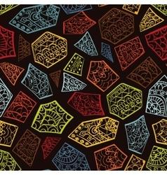 Vintage decorative hand drawn background vector image