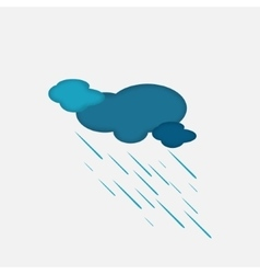 Weather Icon of the Rainy Cloud vector image