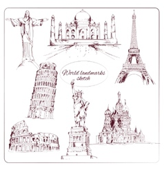 World landmark sketch vector image