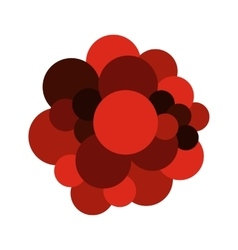 Blood cells flat icon vector image