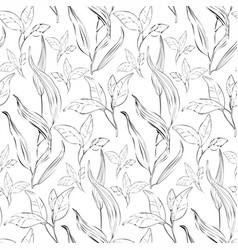 floral seamless pattern with plants - vector image