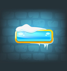 game long ice blue button vector image
