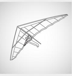 hang gliding logo icon vector image
