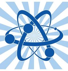 symbol of atom vector image